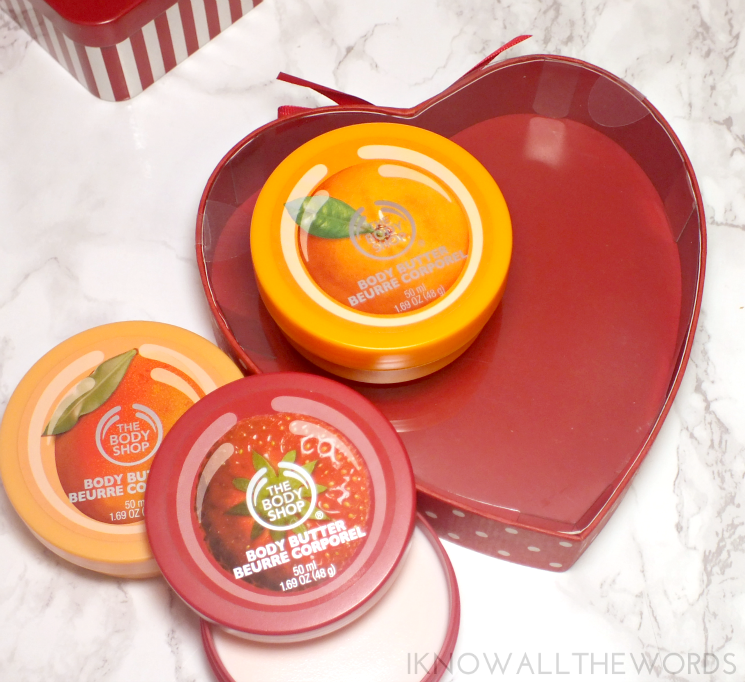 the body shop holiday 2015 fruity body butter sweetheart
