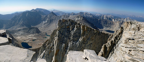 Looking south east from Mt Whitney summit