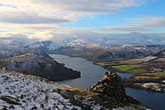 Cairn viewpoint atop Whinny Crag