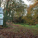 National Trust sign at Lewesdon Hill