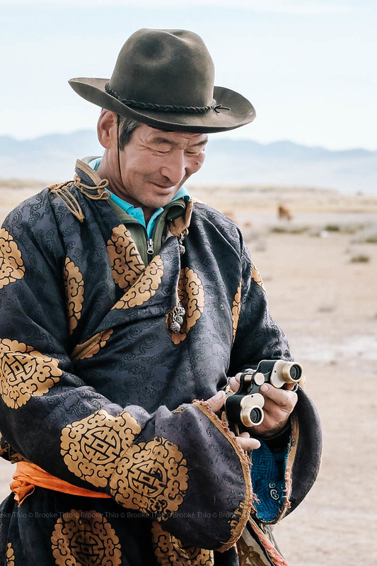 The Mongolian herder whose home we visited.