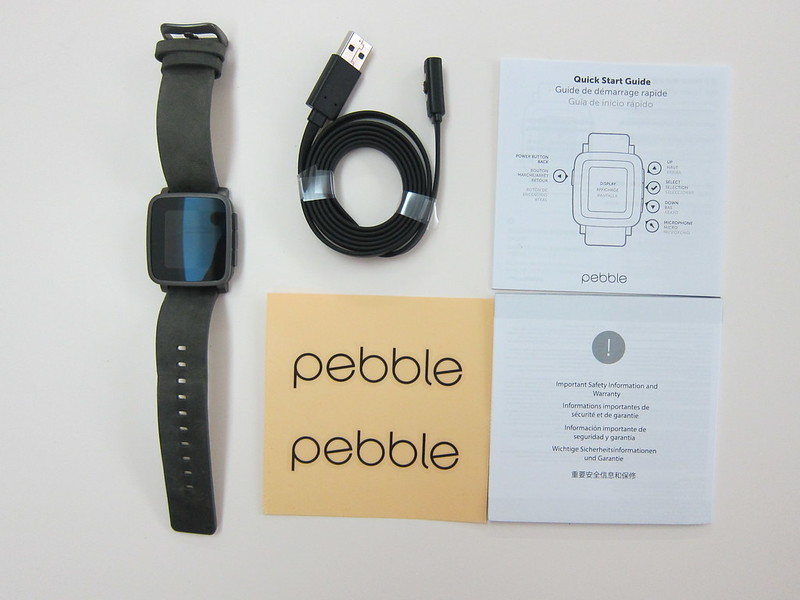 Pebble Time Steel Watch - Box Contents