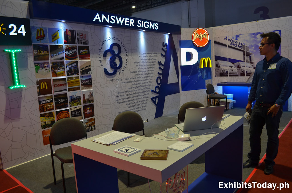 Answer Signs Exhibit Booth