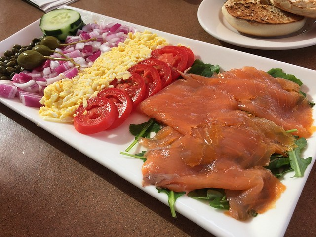 Smoked salmon platter - The Grille at Shadowrock