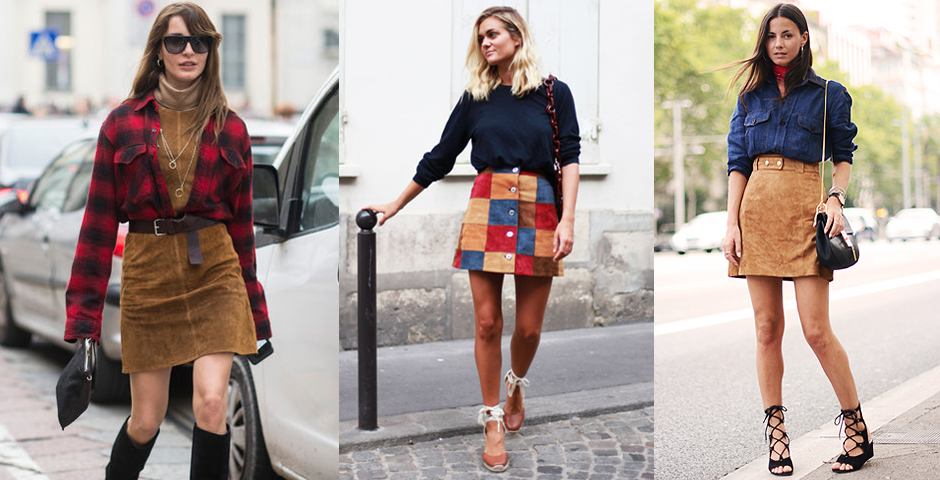 a-line-suede-skirts