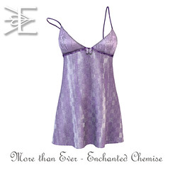Designer Showcase Gift - Enchanted Chemise in Curiouser Violet - More Than Ever