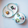 Vintage Kitchy Mid-Century Hand-Painted Serving Dishes Made-in-Japan