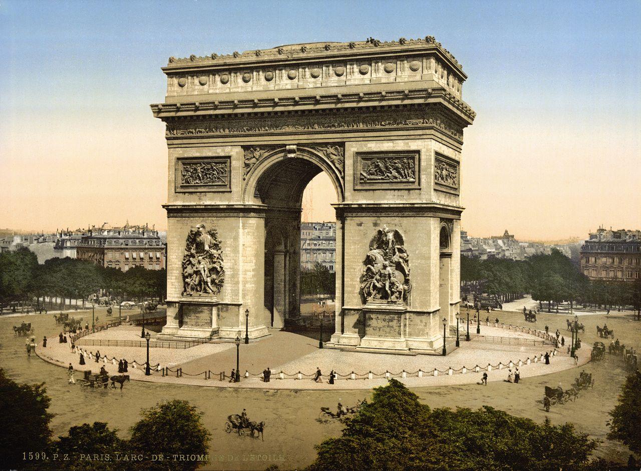 Arc de Triomphe de l'Etoile, Paris, France