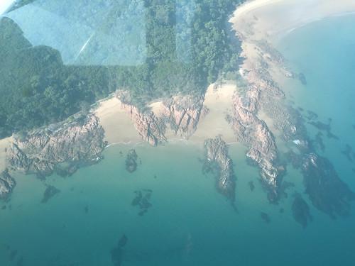 Die Insel von oben