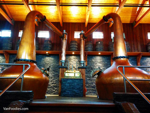 Pot stills at Shelter Point Distillery