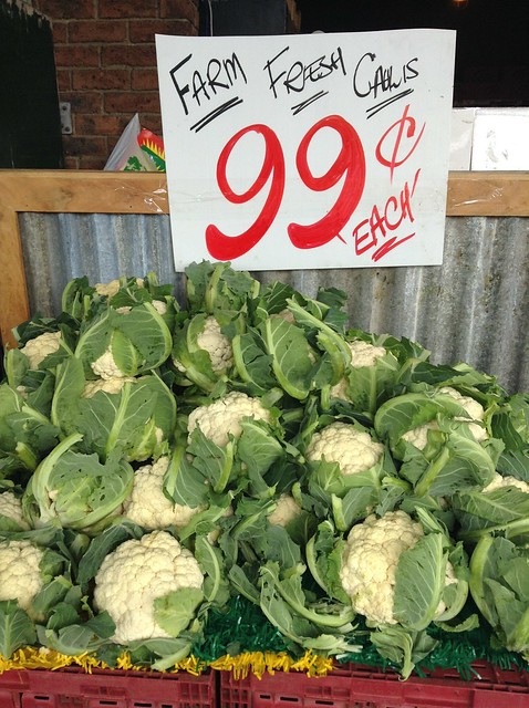 Large cauliflower 99 cents each