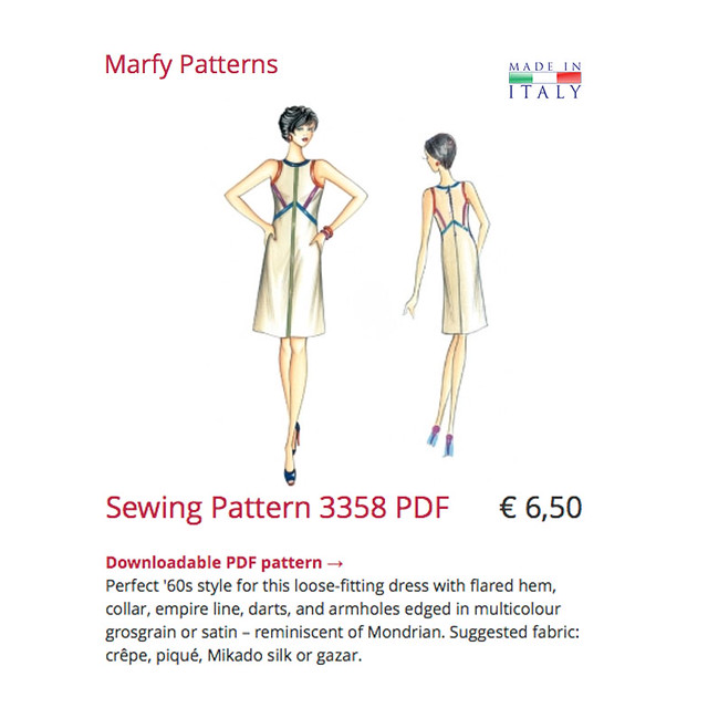 Marfy dress pattern image