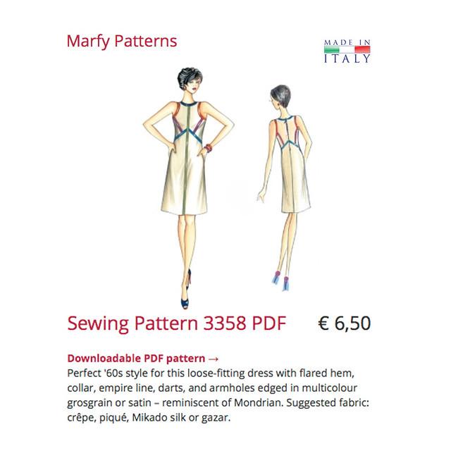 Marfy dress pattern image