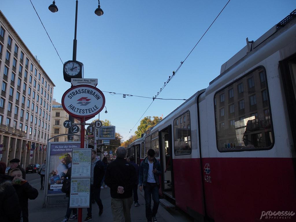 vienna tram stop