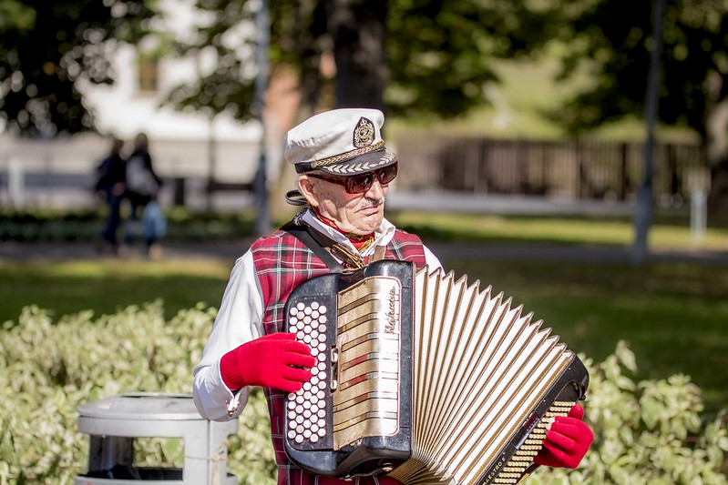Accordionist at Square Vilnius - Wilno - Vilnius