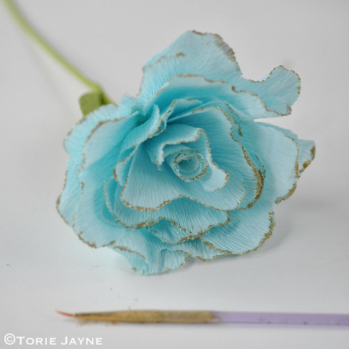 Crepe Paper Rose Tutorial 19