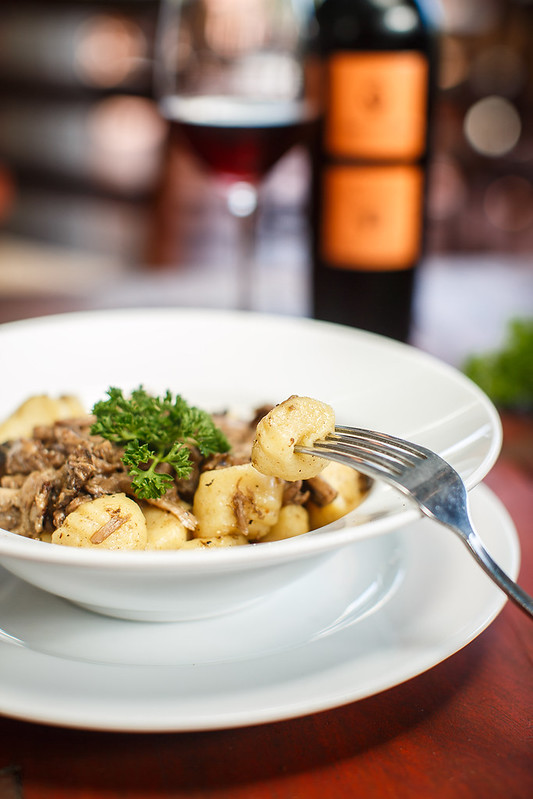 Traditional Italian dishes - gnocchi with duck