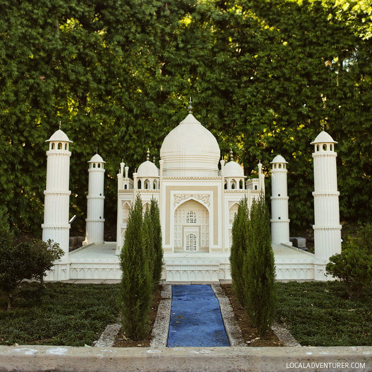 Lego Taj Mahal Agra India - If you are a travel lover, you will love the lego version of the world at Legoland California Resort.