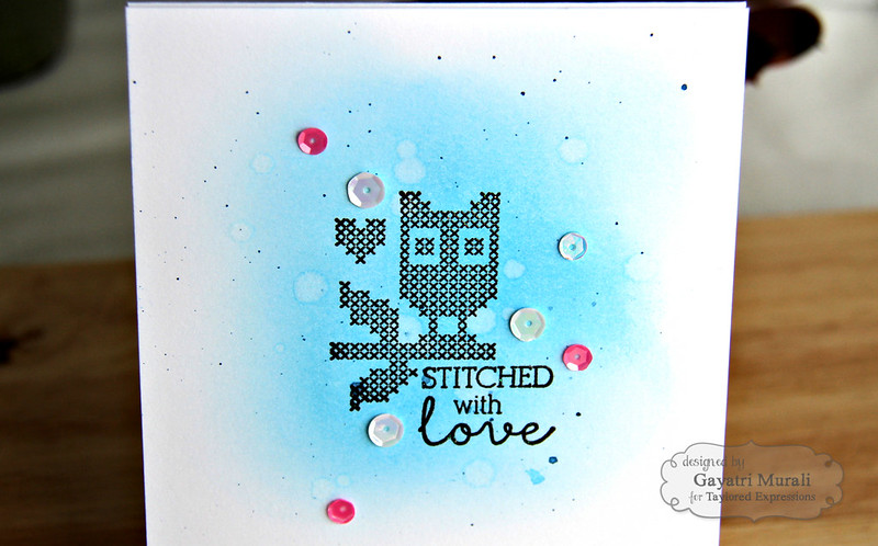 Stitched with love closeup