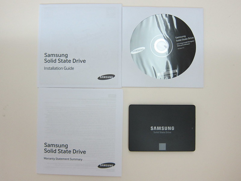 Samsung 850 EVO 250GB - Box Contents