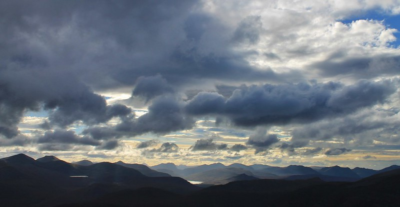 Looking west from Am Faochagach