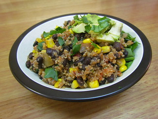 Quinoa and Black Bean Chili Bowls