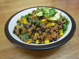 Quinoa and Black Bean Chili Bowls