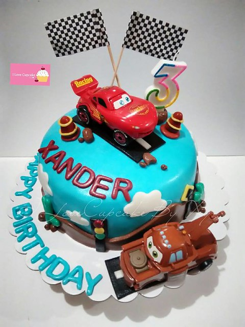 Cars Themed Cake by Xylee Tan-Santiago of ILoveCupcake By Xy