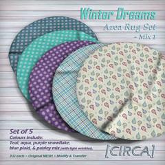 "@ The Project Se7en - [CIRCA] - ""Winter Dreams"" - Area Rug Set - Mix 1"