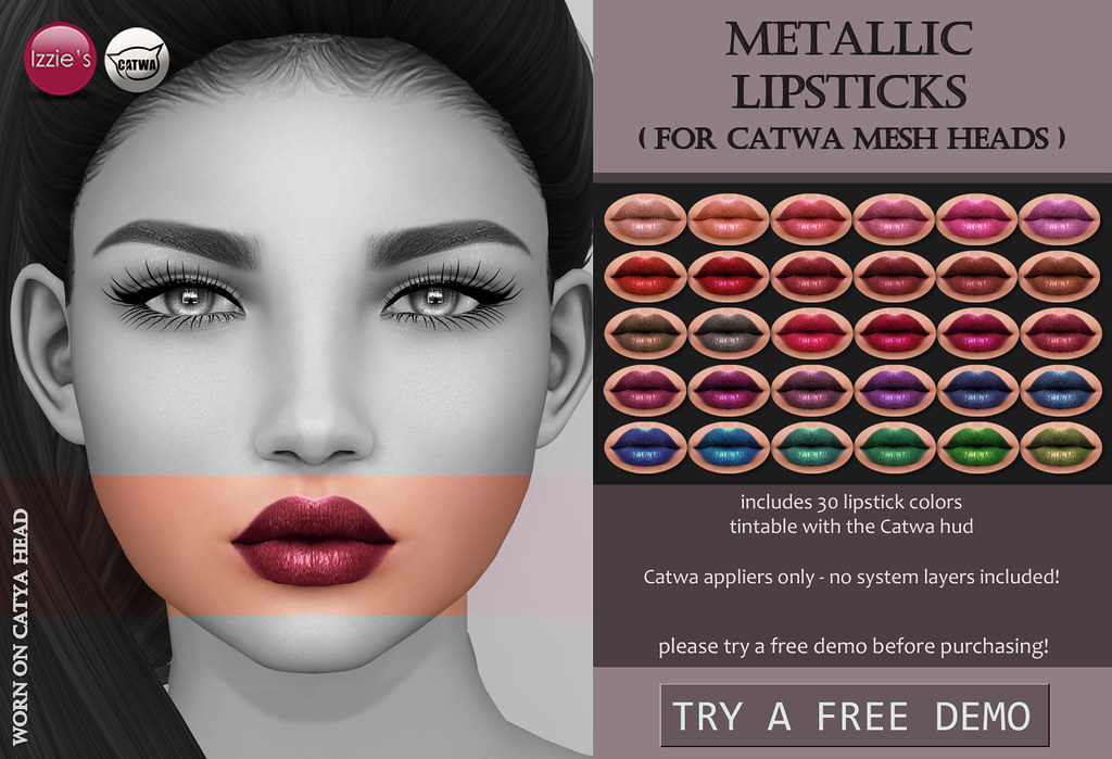 Metallic Lipsticks (Catwa) - SecondLifeHub.com