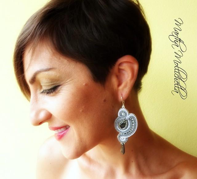 soutache earrings jewelry handmade in Italy