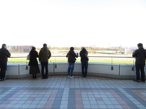 中山競馬場の2階屋外席