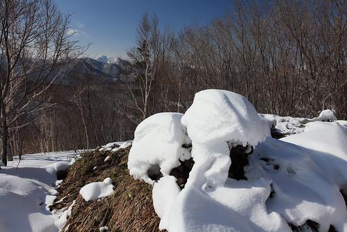 札幌岳を望む