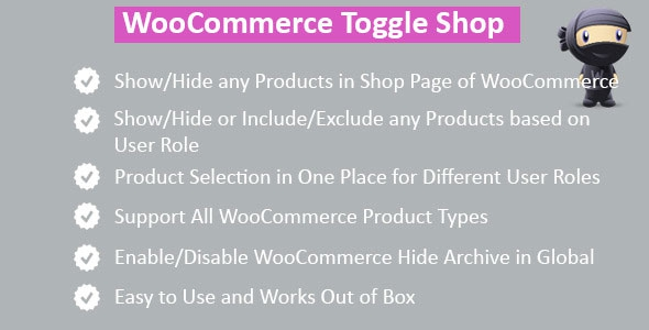 Codecanyon WooCommerce Hide Shop Products v2.1