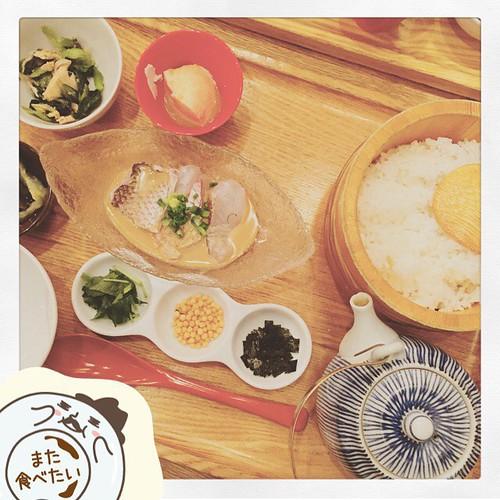 昨日の #dinner 鯛茶漬け。 #dish #Delicious #yummy #illustration #イラスト #illust #line 「しあわせディッシュ家スタンプ」 <a href=