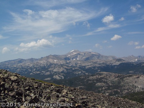 Wind River Peak from Roaring Fork Mountain, Wind River Range, Wyoming