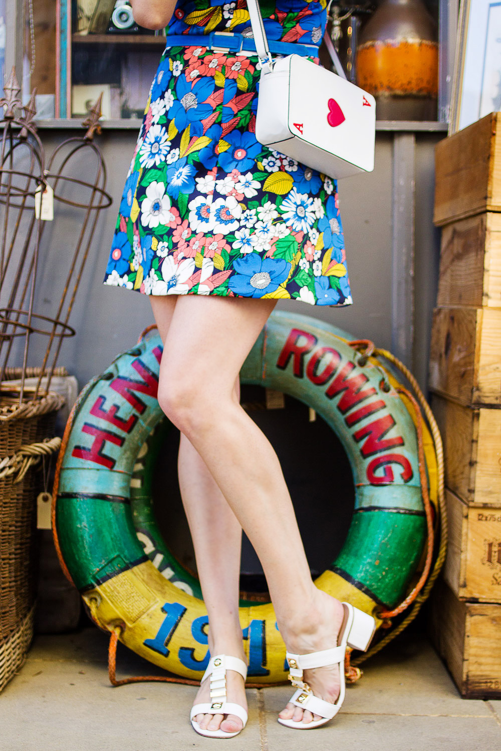 white asos mid heel sandals colourful buoys for sale margate