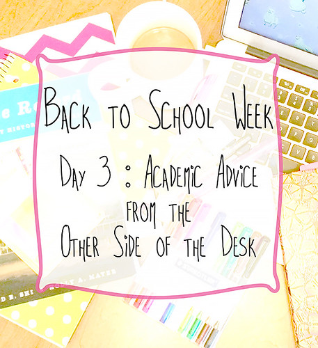 Back to School Week Day 3 Academic Advice