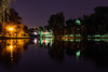 Park canal at night