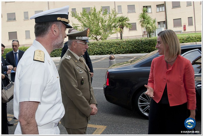 HR/VP Federica Mogherini visits the Eunavfor Med Headquarters in Rome – Op. Sophia