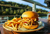 Fresh Ground Burger w/ pepper jack, candied bacon, fried onion, pickles, chipotle aioli - Table 9 by sheryip