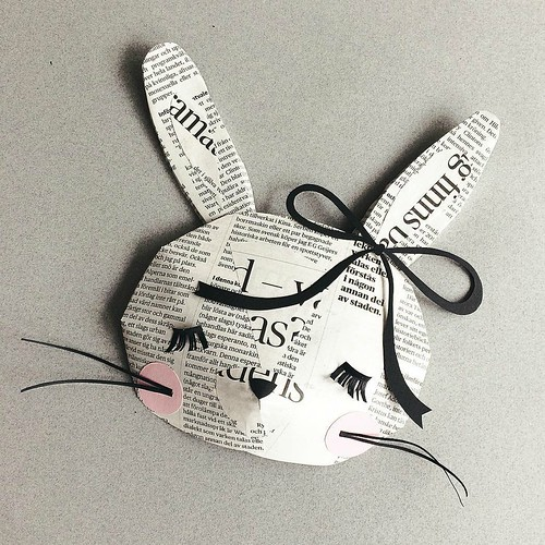 Recycled Paper Sculpture Rabbit