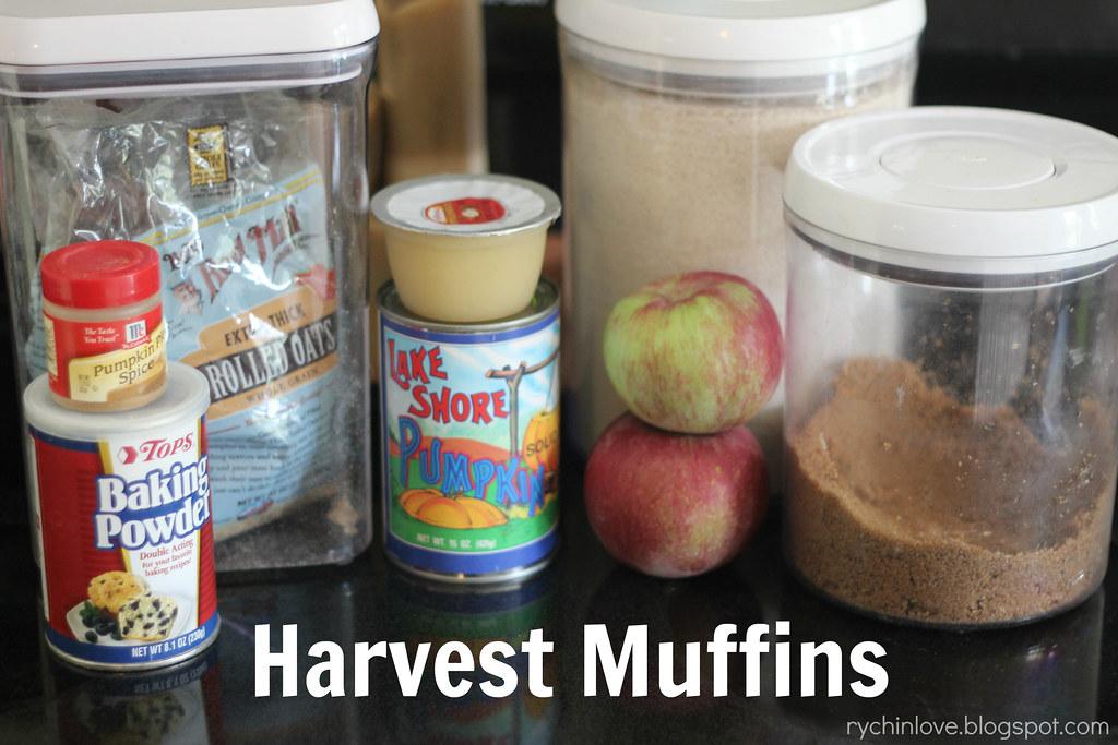 Harvest Muffin Ingredients