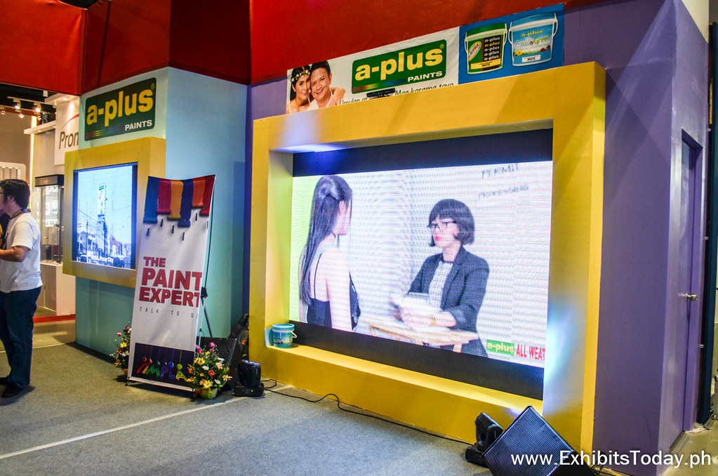 LED Screen TV at A-Plus Trade Show Booth