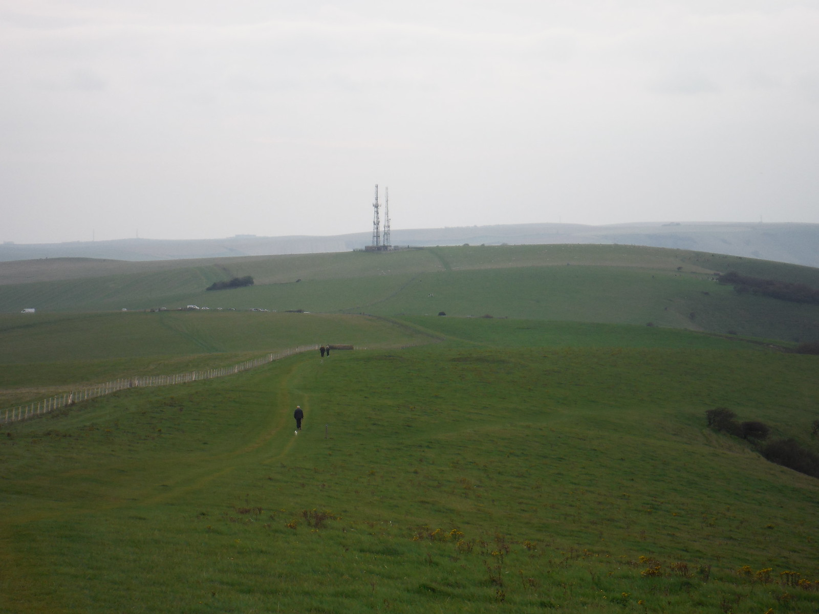 Radio Masts, Beddingham Hill SWC Walk 25 - South Downs Way 8 : Southease to Eastbourne