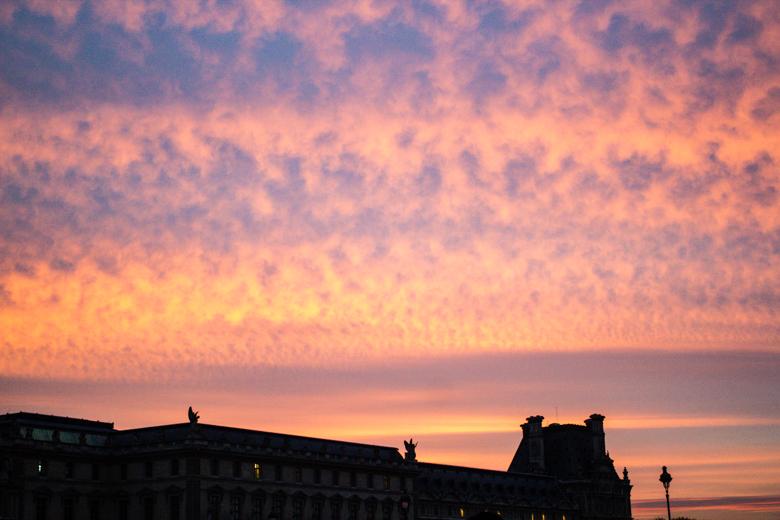 louvre sunset