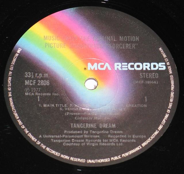 "Tangerine Dream Sorcerer William Friedkin Film 12"" vinyl LP"