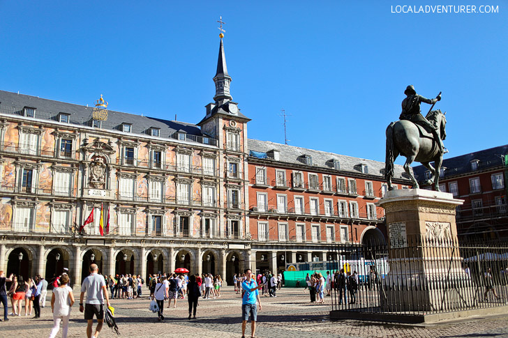 Are you headed to Madrid? One thing you absolutely must do is people Watch at Plaza Mayor. You can also click through to read 21 Remarkable Things to Do in Madrid Spain.