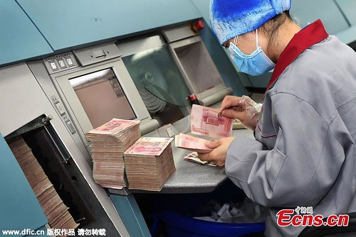 Chengdu banknote processing center seperating