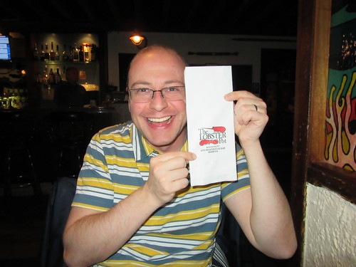 Dan and his Lobster Pot napkin.